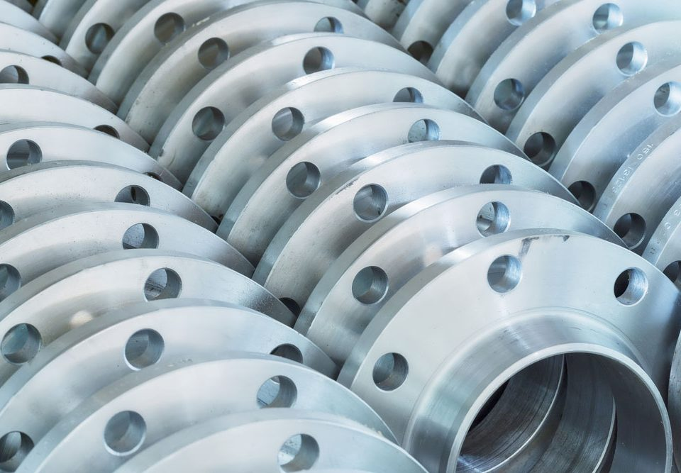 Flanges in a Parts Factory