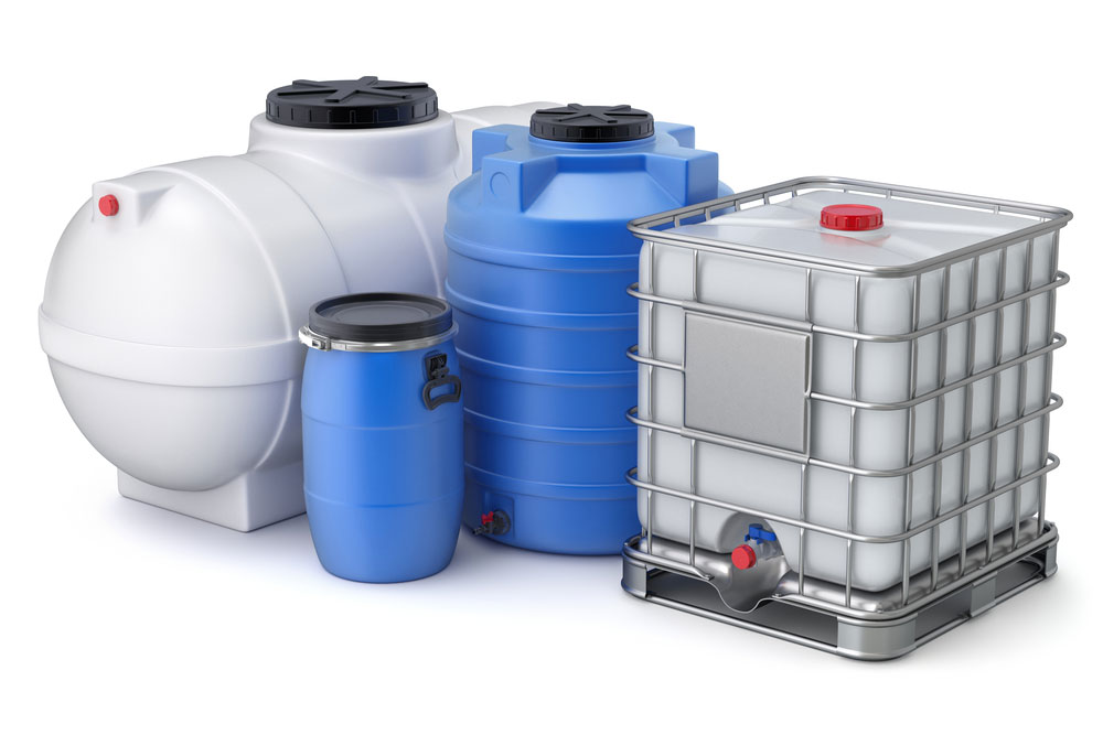 Assorted chemical tanks